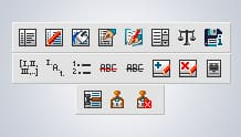 Legal toolbar