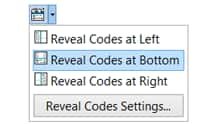 Reveal Codes