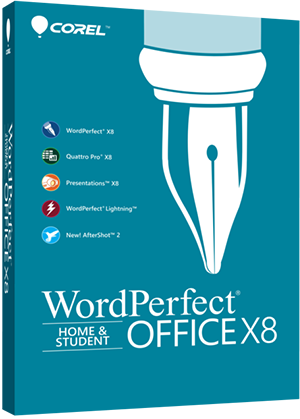 WordPerfect Office X8 - Home & Student Edition box