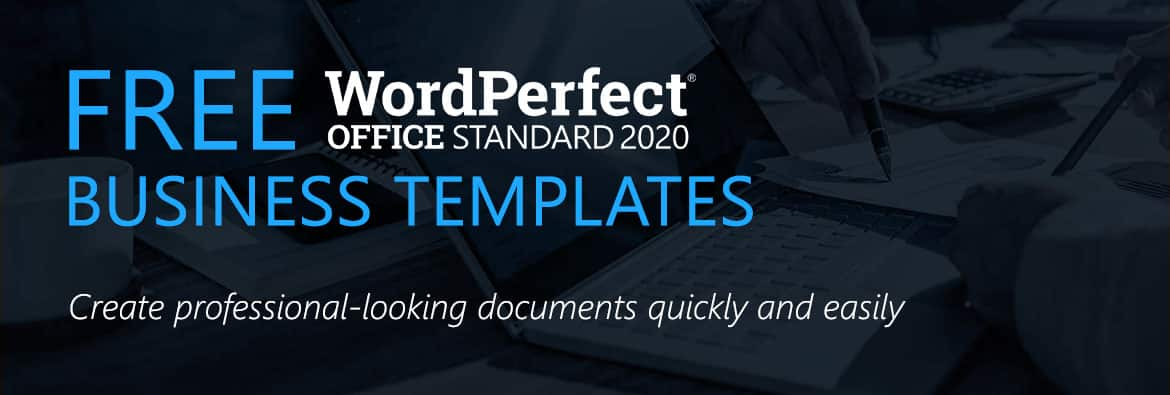 Free Business Templates – Corel WordPerfect Office Templates