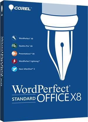 WordPerfect Office X8 - Standard Edition box