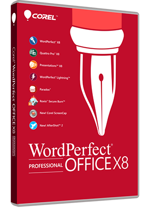 WordPerfect Office X8 - Professional Edition box